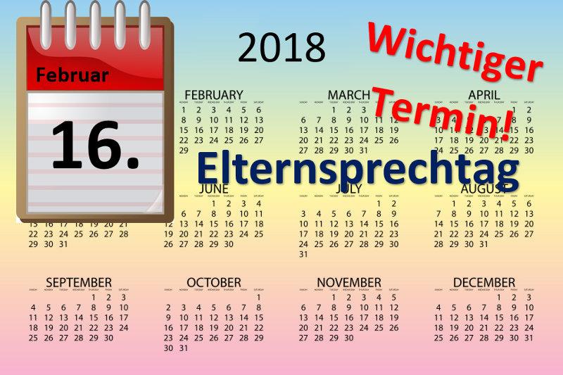 Elternsprechtag – Save the Date (16.02.2018)!